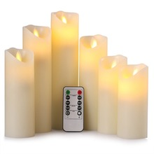 Creative LED Electronic Flameless Candle Lights Remote Control Simulation Flame Flashing Candle Lamps