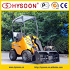 Mini wheel loader snow cleaning machine