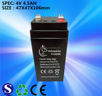 VRLA or SLA 4V 4.5AH battery for UPS and solar system and security system lead acid battery