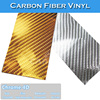 CARLIKE 1.52*30m 5*98 FT Air Free Chrome 4D Car Wrap Material