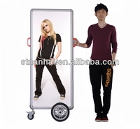 New arrival round corner magic mirror display advertising Christmas promotion