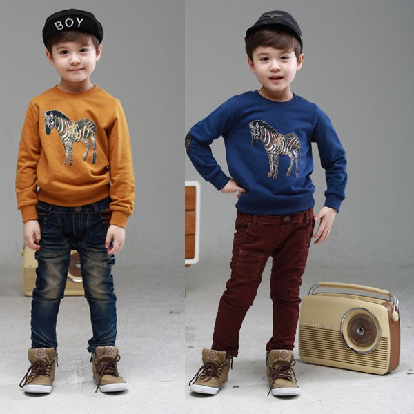 Wholesale Korea Design Children Clothes Kids Boys Print Custom T-Shirt