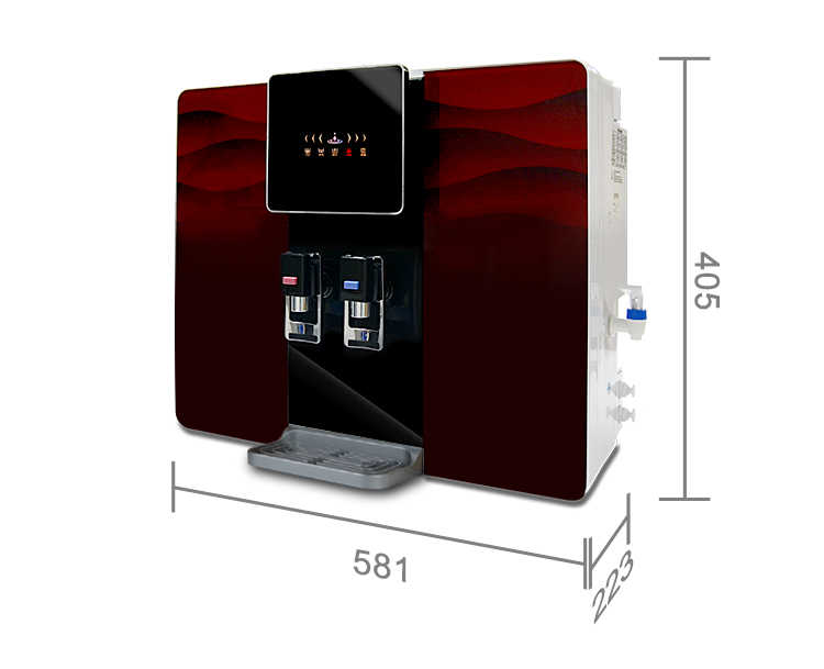 50-150GPD hot and cold water dispenser pure water ro  treatment hot water system