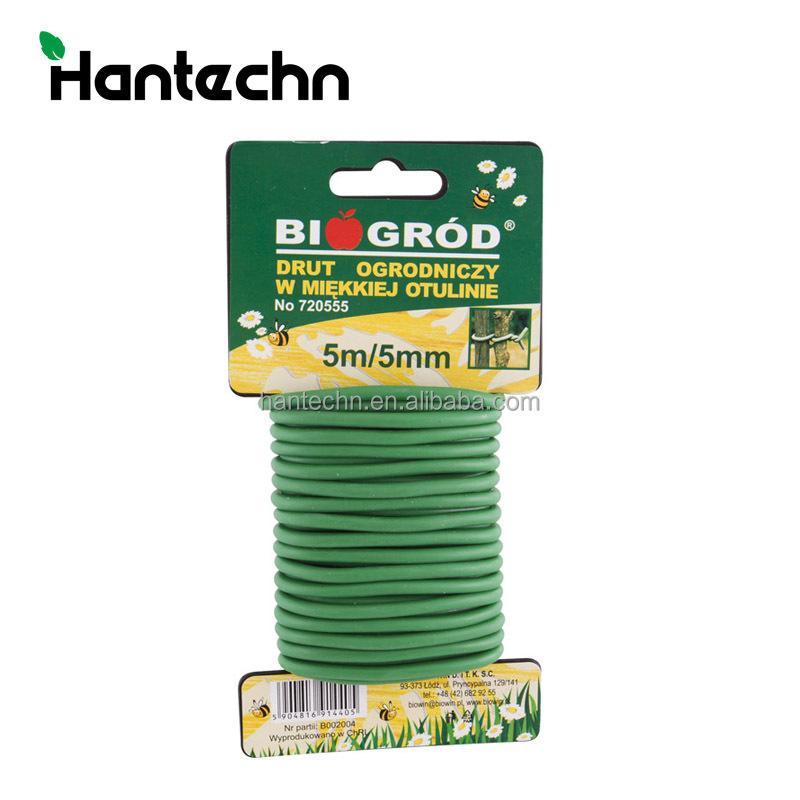 Hot sales garden plant pvc soft plastic wire twist ties plant soft ties cheap price