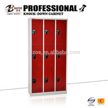 powder coated KD metal shopping mall lockers