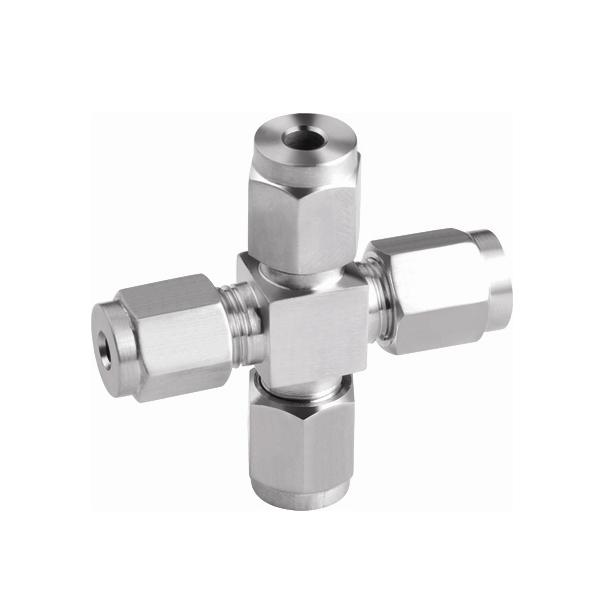 Swagelok Compression Tube Cross Fitting for Oilfield