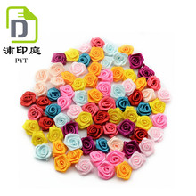 Direct factory seller promotion wholesale cheap hand made ribbon rose bow/rose flower