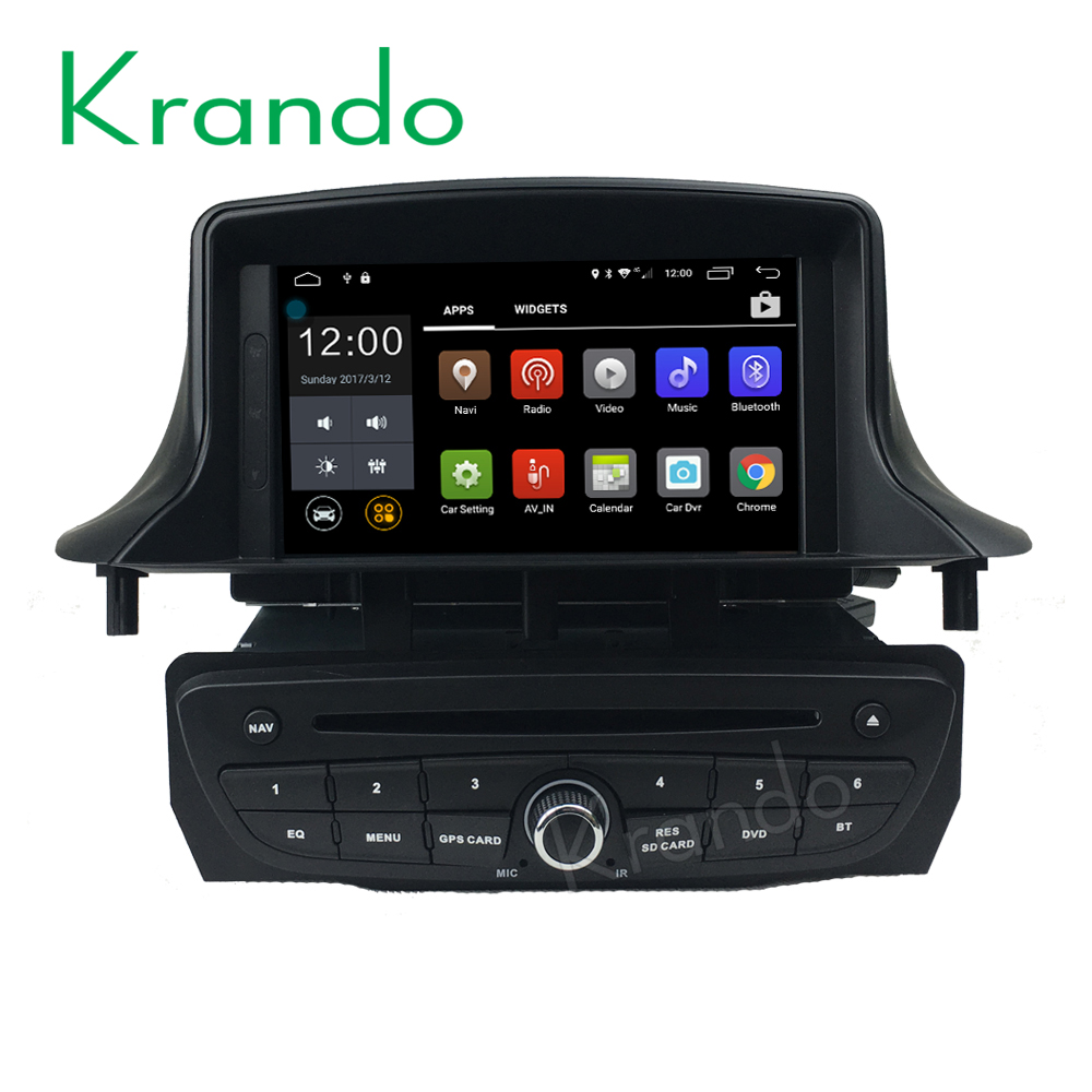 Krando Android 6.0 4G sim card car dvd player for renault megane 3 car multimedia navigation with GPS wifi 2G RAM KD-RT715