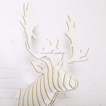 Modern animal deer head wall decor, white deer head