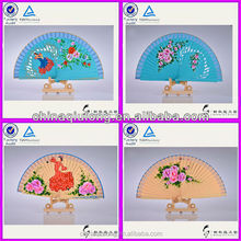 Spanish Style Wooden Hand Fan Wood Carving