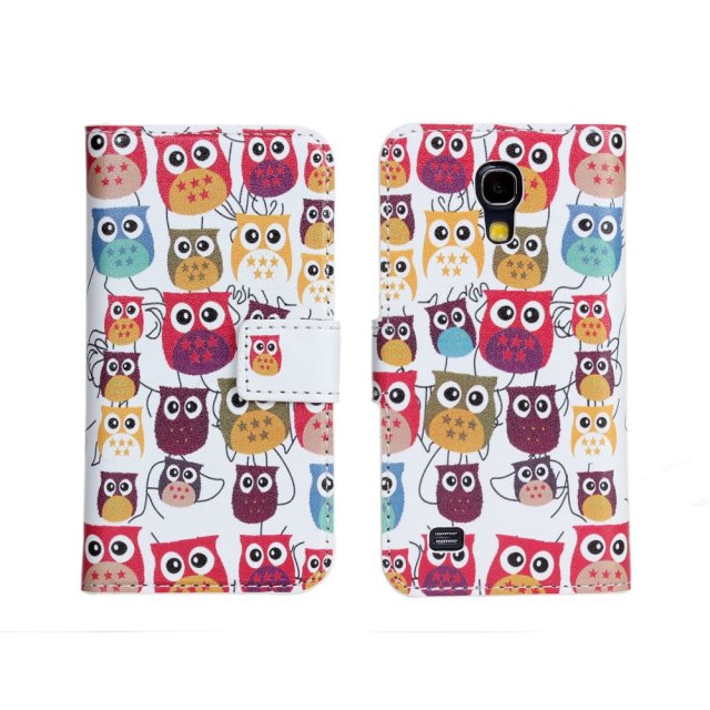 For Samsung S4 mini i9190 Case Cartoon Owl PU Leather Galaxy S4 mini i9190 Luxury Case Cover For Samsung S4 mini i9190 Case