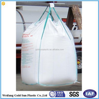 Wholesale high quality bulk bag PP big bag/FIBC bag/ super sack 1 ton/ top open, bottom discharg 100% new virgin resin china