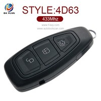 Wholesale Original key for Ford Mondeo 3 button smart key 433MHZ 4D63 AK018042