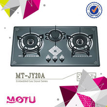 3 Burner Glass Panel Build in Type Gas Cooker Hob MT-JY20B