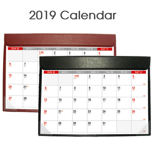 custom printable desk pad calendar 2019 Decorative Desk Blotter Calendar