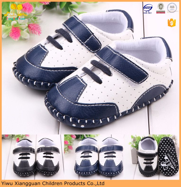 Wholesale Baby Leather Shoes Baby Boy Sports Shoes Hard
