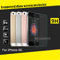 Tempered glass for iPhone SE!! 0.33mm 2.5D 9H mobile phone Tempered Glass screen protector for iPhone SE