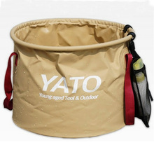 500D PVC Plastic Water carrying Fishing Folding Water Bucket