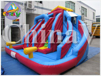 inflatable slide/colorful hot sale triple big water slide inflatable for kids /inflatable water toys