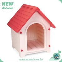642-GATE-Taiwan design Lucky Dog House with Gate for Large size,dog outdoor houses,Plastic Pet house