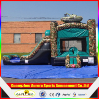 Camo Commercial Inflatable Bounce House Slide Combo