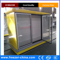 supermarket Upright display fridge/ beverage refrigerated showcase cabinet/soft drink display cooler