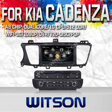 WITSON FOR KIA CADENZA 2014 CAR STEREO WITH 1.6GHZ FREQUENCY STEERING WHEEL SUPPORT RDS BLUETOOTH GPS