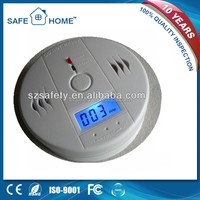 Factory Low price with Battery Operated LCD CO detector