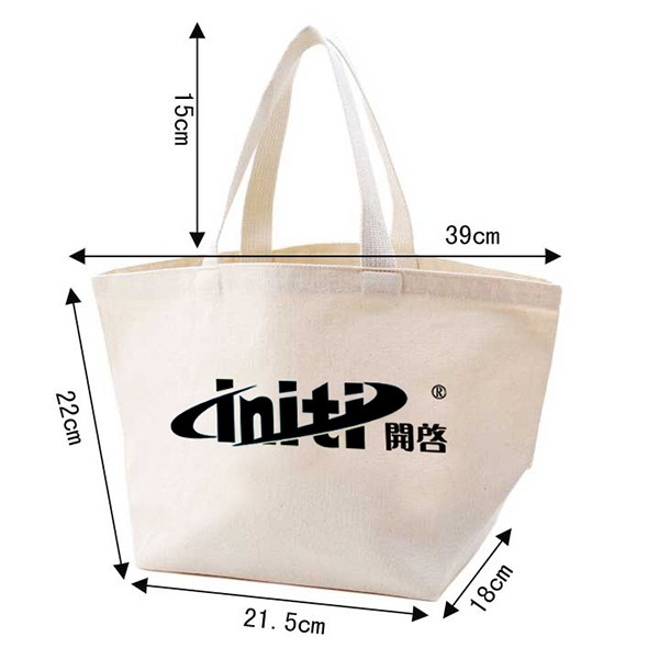 2017 Promotional 12oz Handled Cotton Bag Tote Bag for Shopping With One color Printing