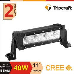 11' 40W LED WORK LIGHT BAR 10-30DC lamp battery powered Led Work Lights Bar boat mini motorcycle