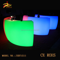 Beautiful plastic color changing protation led bar counter/led counter table from China