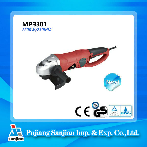 9 Inch Electric Angle Grinder 2200W 230MM MP3301, Cutting and Grinding Disc, Winkelschleifer test