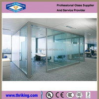 Thriking Glass Clear glass partition wall,glass partition for kitchen,glass partition for bathroom