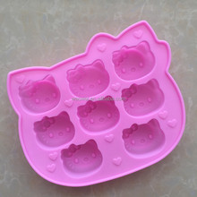 Novelty Microwave Custom Hello Kitty 3d Silicone Moon Cake Mold