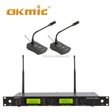 UHF Dual channels wireless gooseneck microphone for classroom