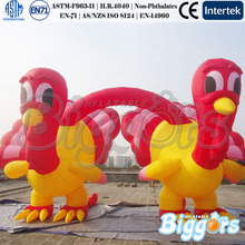 Advertising Inflatable Turkey Model Arch For Thanks Giving Day