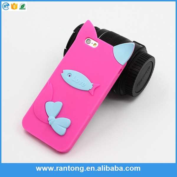 The Latest Hot Selling New Design cute 3D silicone mobile phone case for iphone 6s