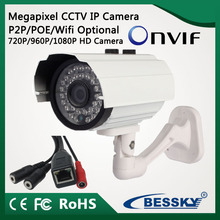2016 New design smart bullet ip camera with 1.3 Megapixel and H.264 compression mode