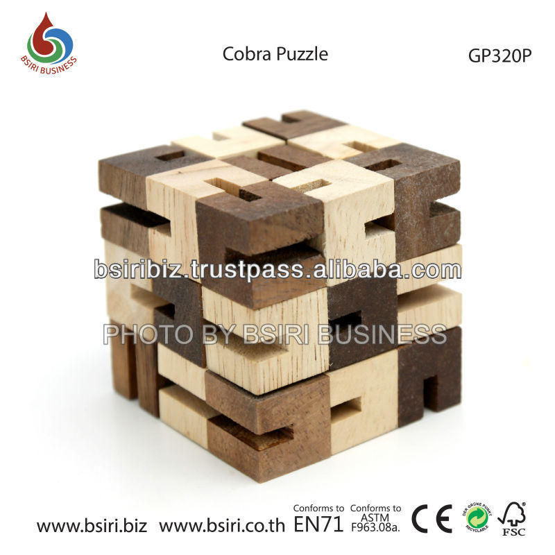 wooden snake cube Cobra Puzzle