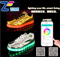 MLS12037 new APP controlled 2016 Fashion comfort stylish good quality running big size men flashing led light shoes