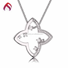 Custom sterling silver charm cubic zirconia jewelry pendant for sale