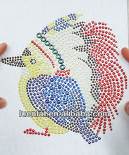 2014 Hotfix rhinestone Motif ,hot sale Heat transfer,bird rhinestone motif