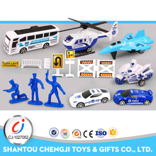 Best gift and hot sale police mini bus diecast ford toy car model