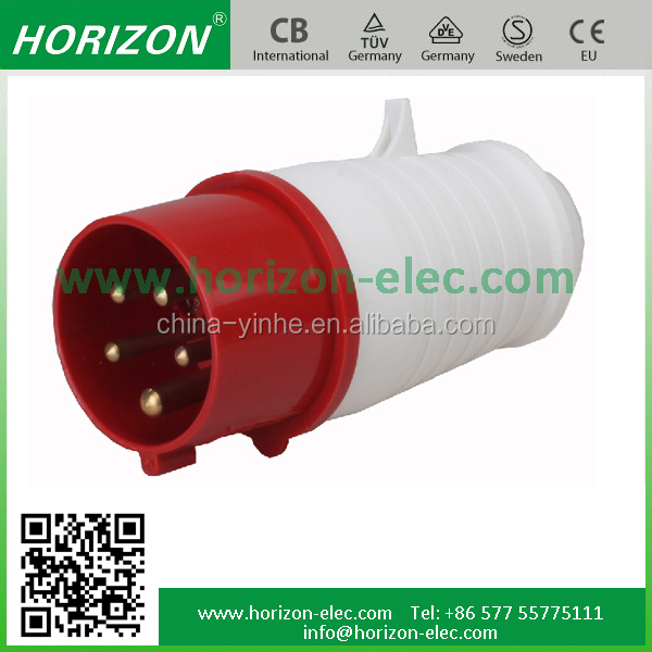 Manufacturer Industrial Socket&Plug Male&Female Connector 32 amps 5 pins industrial socket