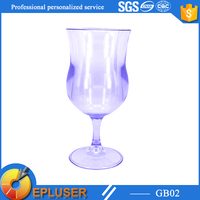 2015 Promotional BPA free unbreakable plastic wine glass customized plastic wine glass