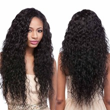 150% Density 22Inch Brazilian Virgin Hair Kinky Curly Glueless Full Lace Human Hair Wig With Baby Hair