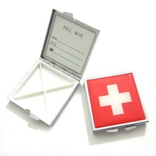 Square Metal Pill Box For Children Travel Portable Pill Box