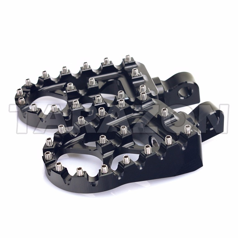 CNC Maching Aluminum Anti-slip Motorcycle Foot pegs For Harley Dyna Sportster Touring