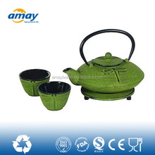 2016 hot selling cast iron teapot blue
