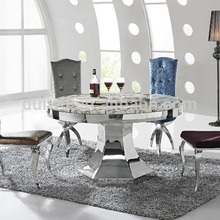 Foshan shunde factory customize natural marble table dining furniture for sale